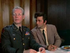 Patrick McGoohan and Peter Falk in Columbo: By Dawn's Early Light (1974)