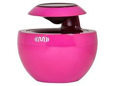 """Monoprice Bluetooth Portable 360° Speaker, Pink. Enjoy great sound and sleek styling with this Bluetooth® Portable 360° Speaker from Monoprice! This speaker features Bluetooth v4.0 wireless connectivity; with support for the A2DP; AVRCP; HFP; and HSP profiles. It features a 2 watt amplifier and a 2"""" neodymium driver to produce a frequency response range of 60 Hz ~ 20 KHz and more than 75 dB signal-to-noise ratio. The unique speaker design enables a 360° soundfield; with audio loud enough…"""