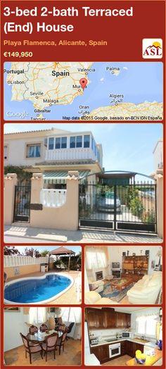 3-bed 2-bath Terraced (End) House in Playa Flamenca, Alicante, Spain ►€149,950 #PropertyForSaleInSpain