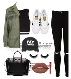 """""""Street style """" by minguyenn ❤ liked on Polyvore featuring New Look, Topshop, Miss Selfridge, adidas Originals, Givenchy, Ivy Park and Lime Crime"""