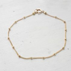 Dainty gold bracelet, gold filled satellite bracelet-Just pin this for later:)