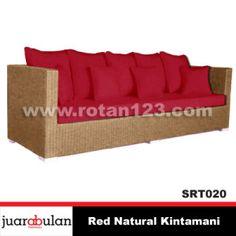 Red Natural Kintamani Sofa Rotan Alami SRT020