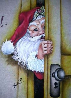 Más #pinturasobretela Christmas Rock, Father Christmas, Christmas Signs, Christmas Pictures, Christmas Snowman, Vintage Christmas, Christmas Holidays, Christmas Crafts, Santa Paintings