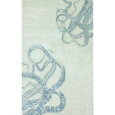 nuLOOM Handmade Octopus Tail Faux Silk / Wool Ivory Rug (7'6 x 9'6)