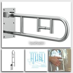 Toilet Grab Bars Safety Handrails curved grab rail luxury finish support handle, shower bar bathroom