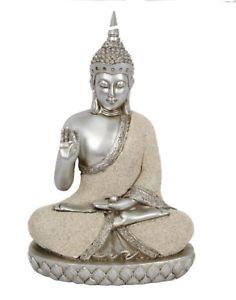 Large Floral Thai Buddha Figurine Ornament Figure Statue Gift Buddah Budda 26cm