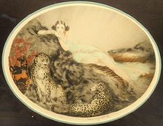 Louis Icart - Thais, Thais 1927  (This one is above the couch)