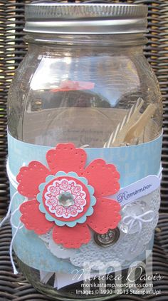 This & That Memory Jar - Monika Davis    We're doing this for year end teacher gifts! Love the idea!