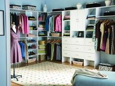 What would I REALLY do with a closet like this?  I don't know.  But I do know I would have room for my scout bins & thus would not trip over them trying to get my clothes each day.