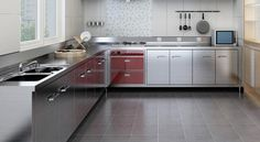 Stainless Steel Kitchen Cabinets, Home Decor, Decoration Home, Room Decor, Home Interior Design, Home Decoration, Interior Design
