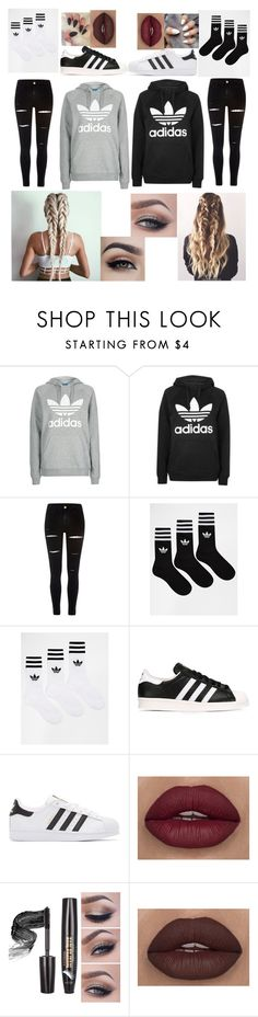 """""""#035"""" by queen1091 ❤ liked on Polyvore featuring Topshop, River Island, adidas and adidas Originals"""