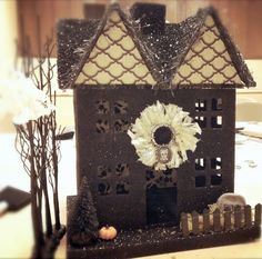 victorious archive: DIY HALLOWEEN GLITTER HOUSE