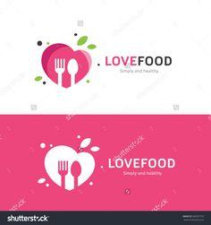 Love Food Logo,Restaurant logo,food and cooking logo,vector logo tempalate