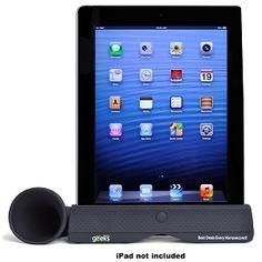 Geeks Rubber Speaker Horn For iPad 2, 3rd & 4th Generation GEEKS-IPAD-HORN