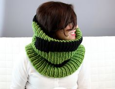 The Oversized Ribbed Chunky Cowl or Infinity Scarf by xtralayers, $45.00