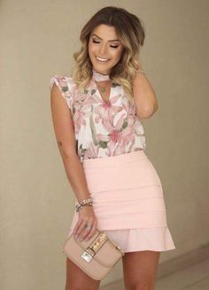 Pin by 🌸nathaly🌸 on modelos de blusas Trendy Fashion, Girl Fashion, Fashion Looks, Fashion Outfits, Womens Fashion, Fashion Trends, Casual Outfits, Cute Outfits, Shorty