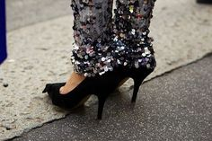 Sequin leg warmers, yes please!