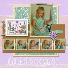 #clubscrap Botanicals blog hop Digital Layout Made by Wendy Bellino