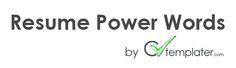 Resume Power Words - Make CV at cvtemplater.com