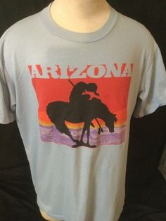 Vintage 1980's Tourist T-Shirt Arizona 50/50 Native American Great Co,kr by 413productions on Etsy