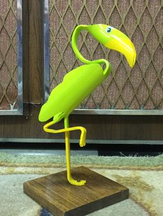 """PVC Green Bird ( about 12"""" tall)"""
