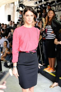 Laura Neiva attends the ELLUS fashion show during Sao Paulo Fashion Week Winter 2015 on November 5, 2014