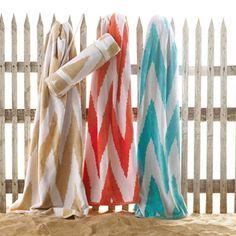 Fun beach towels: check!