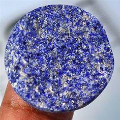 33.66Ct UNIQUE Natural Lapis Lazuli With Pyrite Druzy (approx. 26mm)