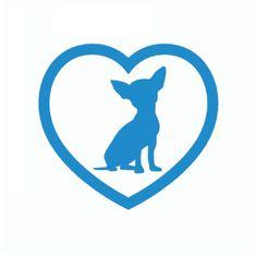 Chihuahua Heart Car Sticker #DogLover