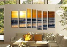 Tablou Apus 4051 Dimensiune: 3x 30x70 + 4x 20x80 cm Total: 170x90 cm Divider, Modern, Room, Furniture, Home Decor, Bedroom, Trendy Tree, Decoration Home, Room Decor