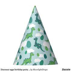 Dinosaur eggs birthday party hat for boys