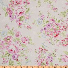 Treasures by Shabby Chic Large Floral Pink - Discount Designer Fabric - Fabric.com  $8.98/Yard  DUVET for comforter