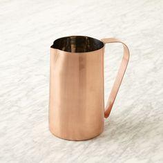 copper pitcher | west elm