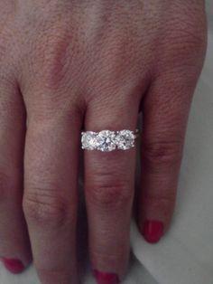 Beautiful three stone engagement ring