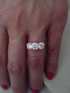 Beautiful three stone engagement ring