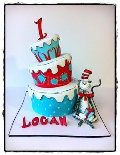 My first Cat in the Hat cake and I was SO excited! Can't wait to do another! :) TFL!!