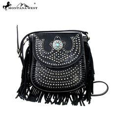 MW197-8287 Montana West Fringe Messenger Bag
