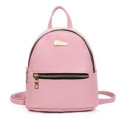 40e33857e06  11.7 - Awesome fashion Mini Backpack For Teenage Girls School Bags high  quality Female leather small