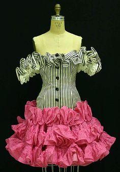 vintage Oscar de la Renta dress 1980s