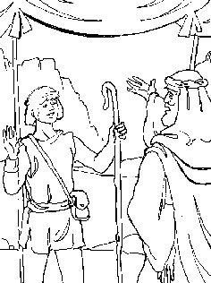 David helps mephibosheth coloring page b2 david for Mephibosheth coloring page