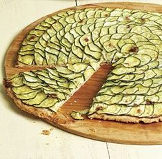 Zucchini Tart with Lemon Thyme and Goat Cheese