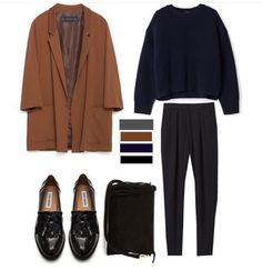 Most up-to-date Free Business Outfit aesthetic Ideas, Mode Outfits, Winter Outfits, Casual Outfits, Fashion Outfits, Fashion Weeks, 90s Fashion, Work Wardrobe, Capsule Wardrobe, Street Look