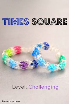 How to Make the Times Square Rainbow Loom Bracelet #rainbowloom