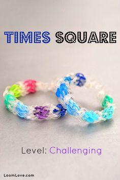 How to Make the Times Square Rainbow Loom Bracelet #rainbowloom @K D Eustaquio Hollund  @Lori Bearden Bearden Anderson