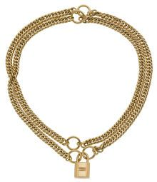 Luxury Accessories:Accessories, Hermes Extremely Rare 18K Gold Signature Cadena Lock 2-way BraceletNecklace. ... (Total: 1 Items)
