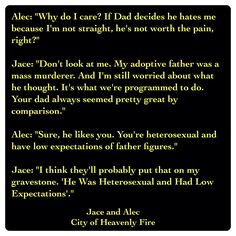 Jace Lightwood and Alec Lightwood (City of Heavenly Fire by Cassandra Clare ~ The Mortal Instruments book 6)