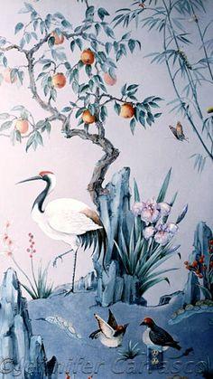chinoisery painting by Jennifer Carrasco