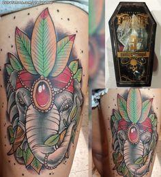 Tatuaje hecho por Diego Trigueros, de Cali (Colombia). Si quieres ponerte en contacto con él para un tatuaje o ver más trabajos suyos visita su perfil: http://www.zonatattoos.com/gredatattoo  Si quieres ver más tatuajes de elefantes visita este otro enlace: http://www.zonatattoos.com/tag/252/tatuajes-de-elefantes  #Tatuajes #Tattoos #Ink #Elefantes