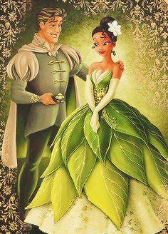 Tiana and Prince Naveen - Disney Fairytale Designer Collection Walt Disney, Disney Pixar, Disney Nerd, Disney Fan Art, Cute Disney, Disney Dream, Disney Girls, Disney And Dreamworks, Disney Animation