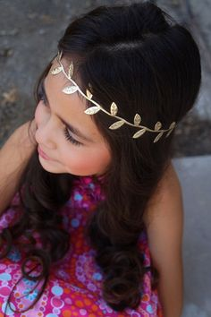 Nbadult goddess gold leaf hippie headband by ChicLuvBoutique, $5.50